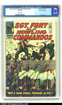 Sgt. Fury and His Howling Commandos #28 Stan Lee File Copy (Marvel, 1966) CGC FN- 5.5 Off-white pages. This is your chan...