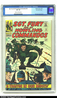 Sgt. Fury and His Howling Commandos #32 Stan Lee File Copy (Marvel, 1966) CGC VF- 7.5 Cream to off-white pages. Fury dis...