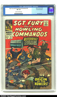 Sgt. Fury and His Howling Commandos #34 Stan Lee File Copy (Marvel, 1966) CGC FN- 5.5 Cream to off-white pages. Whenever...