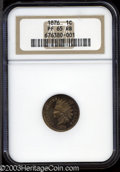 Proof Indian Cents: , 1876 PR 65 Red and Brown NGC. ...