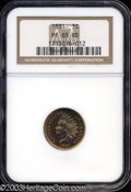 Proof Indian Cents: , 1881 PR 65 Red NGC. ...