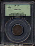 Proof Indian Cents: , 1884 PR 65 Brown PCGS. ...