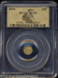 California Fractional Gold: , 1870 Liberty Octagonal 25 Cents, BG-761, R.4, AU55 PCGS. ...