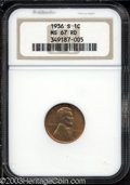 Lincoln Cents: , 1936-S 1C MS67 Red NGC. Bright, even, sparkling S-mint ...