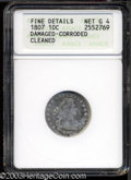 Early Dimes: , 1807 10C --Damaged, Corroded, Cleaned--ANACS. Fine Details, ...
