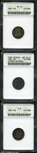 Bust Dimes: , 1834 10C Small 4 VG10 ANACS, JR-7, R.2, LIBERTY is clear, ... (3Coins)