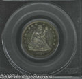 Proof Seated Quarters: , 1862 25C PR65 PCGS. Magnificently toned with speckles of ...
