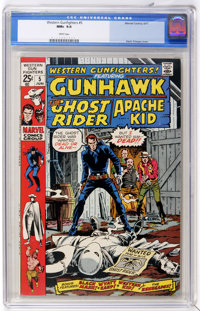 Western Gunfighters #5 (Marvel, 1971) CGC NM+ 9.6 White pages. Herb Trimpe cover. Jack Kirby, John Romita Sr., Dick Ayer...