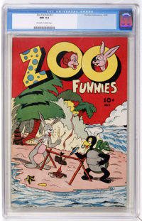Zoo Funnies #2 (Charlton, 1945) CGC NM 9.4 Off-white to white pages. Notable for being one of the very first Charlton co...