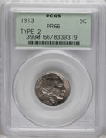 Proof Buffalo Nickels: , 1913 5C Type Two PR66 PCGS. The Buffalo nickel proofs of 1913 hadmicrogranular surfaces that were a far cry from the refle...