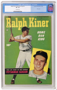 Ralph Kiner, Home Run King #nn (Fawcett, 1950) CGC VF- 7.5 Off-white pages. Photo cover. Overstreet 2005 VF 8.0 value =...