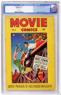 Golden Age (1938-1955):Adventure, Movie Comics #1 (Fiction House, 1946) CGC VF/NM 9.0 Off-white pages. Even if you didn't know that Movie Comics was a Fic...
