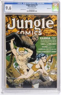 Jungle Comics #32 Double Cover (Fiction House, 1942) CGC NM+ 9.6 Cream to off-white pages