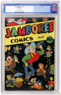 Golden Age (1938-1955):Funny Animal, Jamboree Comics #1 (Round, 1946) CGC NM 9.4 Off-white to whitepages. Funny animal stories. Overstreet 2005 NM- 9.2 value = ...