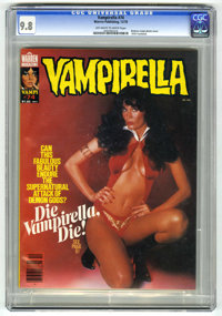 Vampirella #74 (Warren, 1978) CGC NM/MT 9.8 Off-white to white pages. 1978 Yearbook. Photo cover featuring actress Barba...