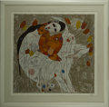 Prints:Contemporary, JIANG TIE FENG (Chinese, b. 1938). Mother and Child. Colorserigraph 95/300. Signed to lower right, labeled to verso. Ma...