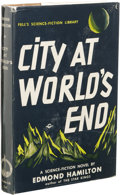 Books:First Editions, Edmond Hamilton: City at World's End. (New York: FrederickFell, Inc., 1951), first edition, 239 pages, light orange clo...