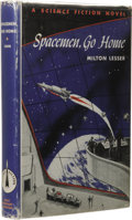 Books:First Editions, Milton Lesser: Spacemen, Go Home. (New York: Holt, Rinehartand Winston, 1961), first edition, 221 pages, light blue clo...