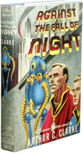 Books:First Editions, Arthur C. Clarke: Against the Fall of Night. (New York:Gnome Press, 1953), first edition, 223 pages, light blue cloth w...