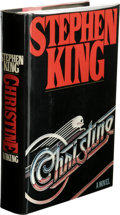 Books:First Editions, Stephen King: Christine. (New York: The Viking Press, 1983),first edition, 526 pages, black quarter-cloth and red paper...