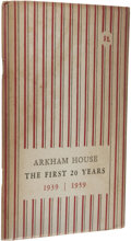 Books:First Editions, August Derleth (Editor): Arkham House: The First 20 Years1939-1959. (Sauk City: Arkham House, 1959), first edition...