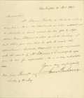 "Autographs:U.S. Presidents, James Buchanan Autograph Letter Signed A.L.S. ""JamesBuchanan"", 1p., 8"" x 9.25"", Washington, April 13, 1846, tohistoria..."