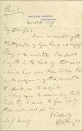 "Autographs:U.S. Presidents, Presidential Rutherford B. Hayes Autograph Letter Signed to Photographer James Landy A.L.S. ""R.B. Hayes"" on Executive Ma..."
