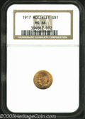 Commemorative Gold: , 1917 G$1 McKinley MS66 NGC. Rich golden-orange coloration ...