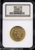 Liberty Eagles: , 1886-S $10 MS62 NGC. Sharply struck with lustrous ...