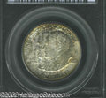 Commemorative Silver: , 1923-S 50C Monroe MS65 PCGS. Covered in scattered sea-...
