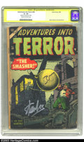 Golden Age (1938-1955):Horror, Adventures Into Terror #28 Stan Lee Signature Series (Atlas, 1954)CGC GD- 1.8 Cream to off-white pages. Beautifully signed ...