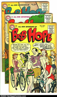 The Adventures of Bob Hope Group (DC, 1955-57). Lot consists of issue # 35 (FN), 37 (VF/NM), 38 (VF+), 39 (FN+), 41 (VF+...
