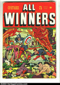 Golden Age (1938-1955):Superhero, All Winners Comics #12 (Timely, 1944) Condition: PR 0.5. Red Skull story; last Destroyer. Alex Schomburg cover. No back cove...