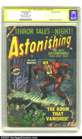 Golden Age (1938-1955):Horror, Astonishing #31 Stan Lee Signature Series (Atlas, 1954) CGC GD 2.0Cream to off-white pages. Horrific Joe Maneely cover and ...