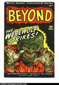 Golden Age (1938-1955):Horror, Beyond #1 (Ace, 1951) Condition: FN-. Bakerish art. Premiere issueof the pre-Code horror title. Overstreet 2003 FN 6.0 valu...