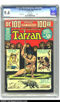 DC 100-Page Super Spectacular #19 (DC, 1973) CGC NM 9.4 White pages. Joe Kubert cover. Tarzan appearance. Overstreet 200...