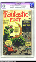 Silver Age (1956-1969):Superhero, Fantastic Four #1 (Marvel, 1961) Apparent GD 2.0 Cream to off-white pages. Origin and first appearance of the Fantastic Four...