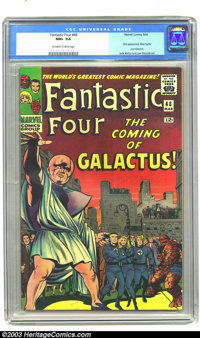 Fantastic Four #48 (Marvel, 1966) CGC NM+ 9.6 Off-white to white pages. Stan Lee story. Jack Kirby and Joe Sinnott art...
