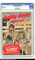 "Golden Age (1938-1955):Western, Gabby Hayes Western #45 (Fawcett, 1952) VF+ 8.5 Cream to off-whitepages. Gabby Hayes meets the ""Gaucho of the Prairies."" Ph..."