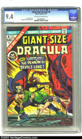 Golden Age (1938-1955):Horror, Giant-Size Dracula #4 (Marvel, 1975) CGC NM 9.4 Off-white to whitepages. Square bound issue; art by Don Heck, Frank Springe...