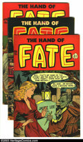 Golden Age (1938-1955):Horror, The Hand of Fate Group (Ace, 1952-53) Condition: Average FN. Lotconsists of #9, 12, and 17, with art by Lou Cameron (#9) an...(Total: 3 Comic Books Item)