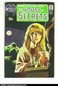 Bronze Age (1970-1979):Horror, House of Secrets #92 (DC, 1971) Condition: FN. First appearance ofthe Swamp Thing, by Bernie Wrightson. Classic cover. Over...