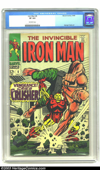 Iron Man #6 (Marvel, 1968) CGC VF 8.0 Off-white pages. Iron Man versus the Crusher. George Tuska and Johnny Craig art. O...