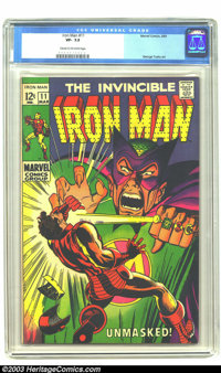 Iron Man #11 (Marvel, 1969) CGC VF- 7.5 Cream to off-white pages. Iron Man versus the Mandarin. George Tuska art. Overst...