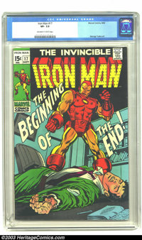 Iron Man #17 (Marvel, 1969) CGC VF- 7.5 Off-white to white pages. George Tuska art. Overstreet 2003 VF 8.0 value = $23...