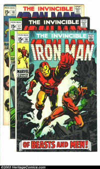 Iron Man #16-19 Group (Marvel, 1969) Condition: Average VF. This lot consists of issues #16, 17, 18, and 19. George Tusk...