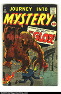 """Golden Age (1938-1955):Horror, Journey into Mystery #72 (Marvel, 1961) Condition: VG. Meet """"TheGlob!"""" Jack Kirby and Steve Ditko art. Overstreet 2003 VG 4..."""
