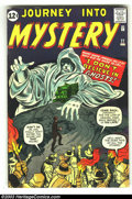 Silver Age (1956-1969):Horror, Journey into Mystery #77 (Marvel, 1962) Condition: VG/FN. Art byJack Kirby and Steve Ditko. Overstreet 2003 VG 4.0 value = ...
