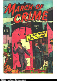 """March of Crime #2 (Fox Features Syndicate, 1950) Condition: VG+. Wally Wood art. Overstreet describes it as """"except..."""