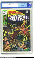 Bronze Age (1970-1979):Western, Marvel Spotlight #1 (Marvel, 1971) CGC NM 9.4 Cream to off-white pages. Origin of Red Wolf and first solo book.Neal Adams co...